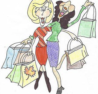 Shopping ladies–autumn tiny